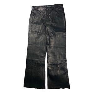 🦋 Banana Republic 100% Leather Black Pants Size 4